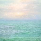 Картины и панно handmade. Livemaster - original item Sea abstract pastel photo painting for bedroom interior Water. Handmade.