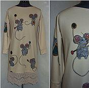 """Одежда ручной работы. Ярмарка Мастеров - ручная работа Платье-свитер""""Мышки""""  .. Handmade."""