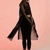 Одежда ручной работы. Ярмарка Мастеров - ручная работа Тренч из чёрной сетки. Handmade.