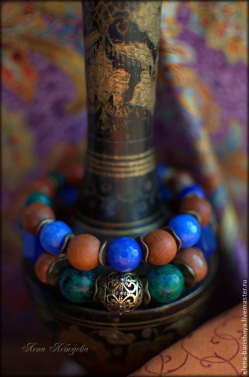 Комплект из двух браслетов `Небеса востока`. Украшения `Барышня`. Ярмарка Мастеров.