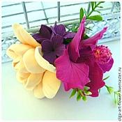 Украшения handmade. Livemaster - original item Barrette Flower fields 2, polymer clay (clip).. Handmade.