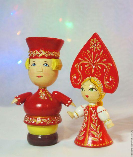 Народные куклы ручной работы. Ярмарка Мастеров - ручная работа. Купить Иван да Марья. деревянная игрушка. Handmade. Деревянная игрушка