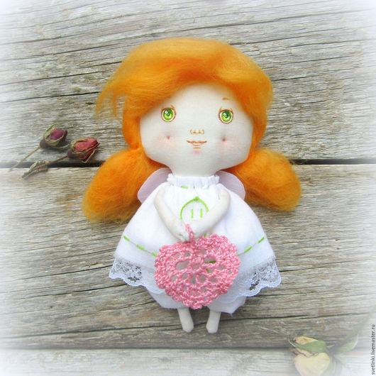 Ангел кукла текстильная. Ангелочек ручной работы. Ярмарка мастеров. Светлинки - авторские куклы.