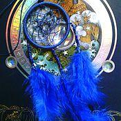 """Фен-шуй и эзотерика ручной работы. Ярмарка Мастеров - ручная работа """"Глубокое синее море"""" - ловец снов-брелок, синий, глубины, омут. Handmade."""