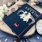 Канцелярские товары handmade. Livemaster - original item Skyrim Wooden Notepad / Sketchbook. Handmade.