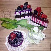 Косметика ручной работы. Ярмарка Мастеров - ручная работа Ягодный торт. Handmade.