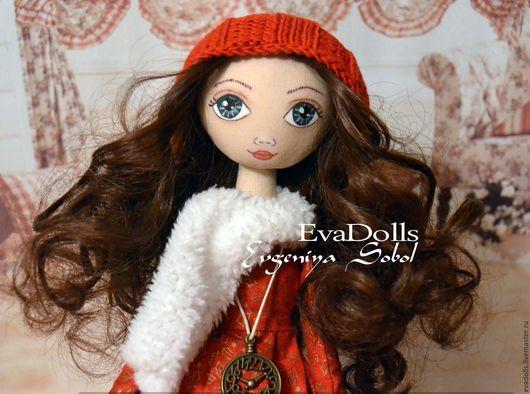 Куклы тыквоголовки ручной работы. Ярмарка Мастеров - ручная работа. Купить Кукла Николь. Handmade. Ярко-красный, подарок девушке