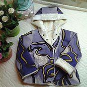 Одежда ручной работы. Ярмарка Мастеров - ручная работа Джинсовочка на тонкой меховой подкладке/осень,весна.. Handmade.