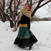 Одежда ручной работы. Ярмарка Мастеров - ручная работа Юбка шерстяная в стиле бохо.. Handmade.