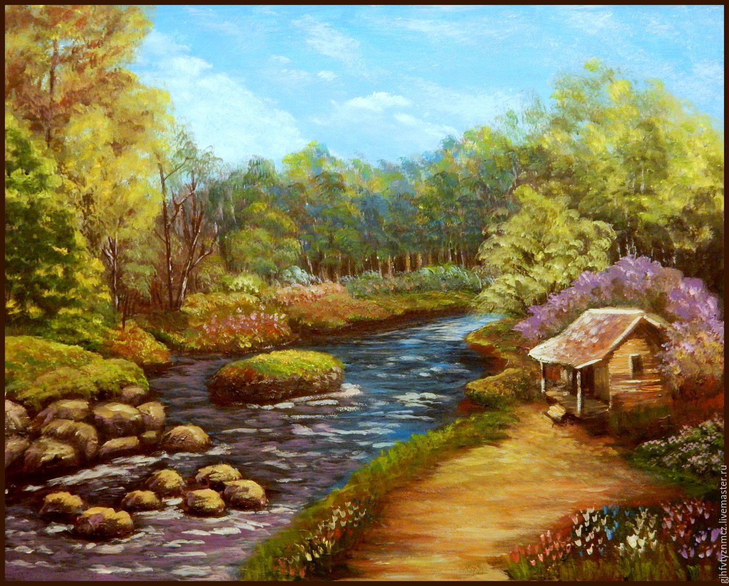 Painting the landscape 'cabin in the woods', Pictures, St. Petersburg,  Фото №1