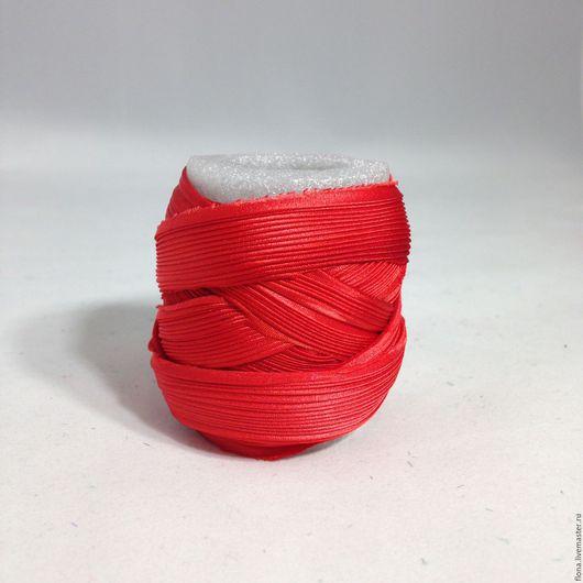 Для украшений ручной работы. Ярмарка Мастеров - ручная работа. Купить Лента Шибори N 120. Handmade. Ярко-красный
