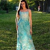 """Одежда ручной работы. Ярмарка Мастеров - ручная работа Валяное платье сарафан """"Нежность-2"""". Handmade."""