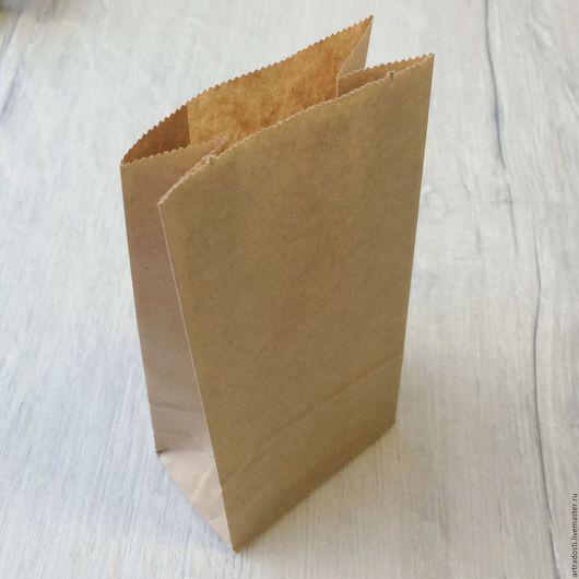 Упаковка ручной работы. Ярмарка Мастеров - ручная работа. Купить Крафт-пакет 8х17 см (плоское дно). Handmade. Крафт