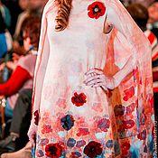 """Одежда ручной работы. Ярмарка Мастеров - ручная работа Платье-кейп валяное """"Маки"""". Handmade."""