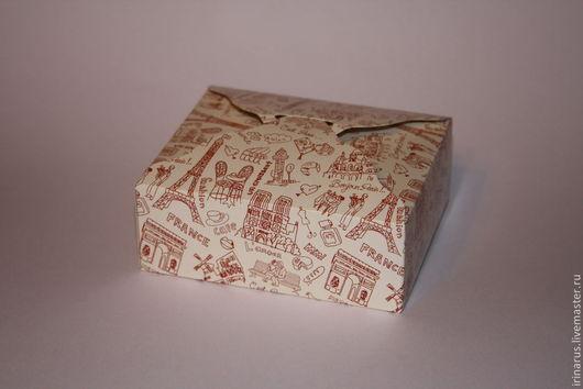 """Упаковка ручной работы. Ярмарка Мастеров - ручная работа. Купить Коробочка для мыла """"Париж"""". Handmade. Бежевый, упаковка для мыла, романтика"""