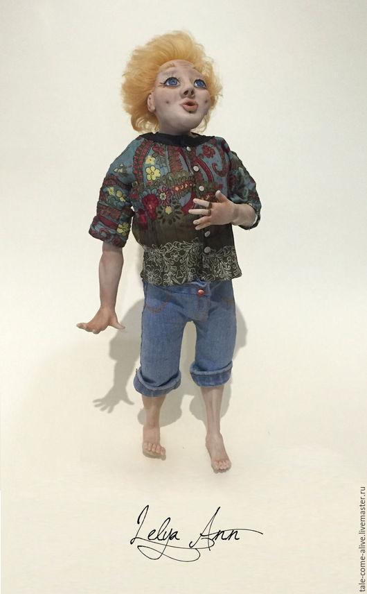 Коллекционные куклы ручной работы. Ярмарка Мастеров - ручная работа. Купить Кукла Удивление. Handmade. Белый, кукла, полимерная глина