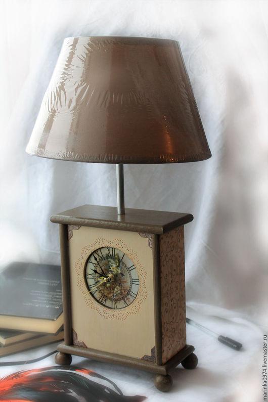 """Часы для дома ручной работы. Ярмарка Мастеров - ручная работа. Купить часы настольные( каминные)- шкатулка """" Только для уюта"""". Handmade."""