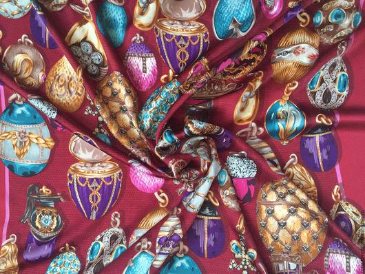 Шитье ручной работы. Ярмарка мастеров - ручная работа. Купить шелковый платок Mantero Москва. Итальянский шелковый платок. Эксклюзивная ткань. Интернет-магазин ткани Москва подарок