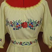 Одежда handmade. Livemaster - original item Embroidered dress