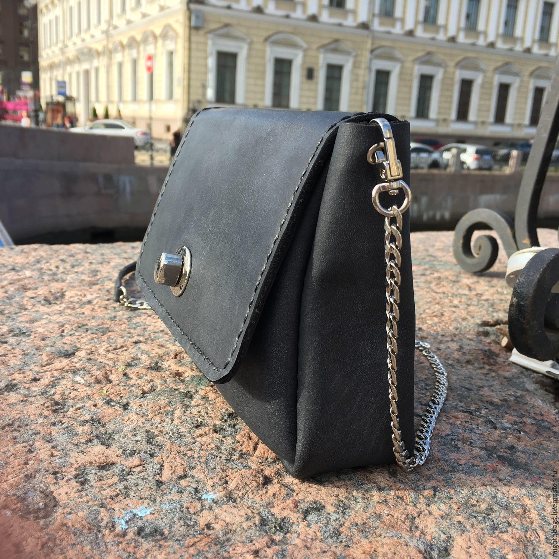 black handbag genuine leather, Classic Bag, St. Petersburg,  Фото №1