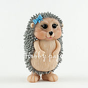 Материалы для творчества handmade. Livemaster - original item Silicone molds for soap hedgehog with a bow. Handmade.