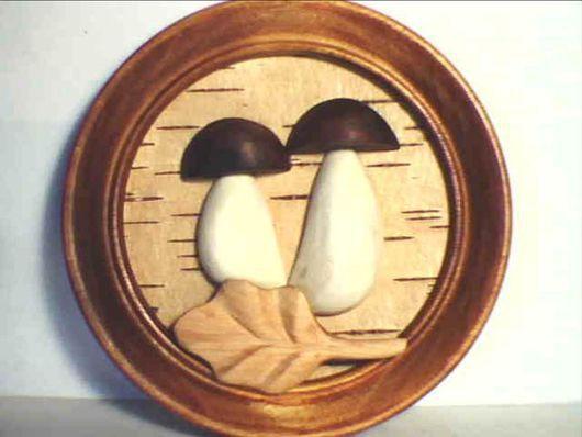 """Пейзаж ручной работы. Ярмарка Мастеров - ручная работа. Купить панно """"грибки"""". Handmade. Настенное панно, декоративное пано"""
