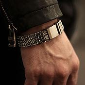 Украшения handmade. Livemaster - original item Men`s bracelet jewelry steel a classic. Handmade.
