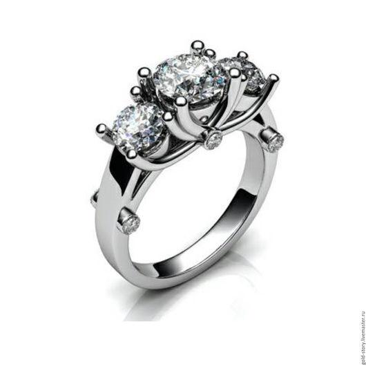 Кольца ручной работы. Ярмарка Мастеров - ручная работа. Купить Золотое кольцо с бриллиантами. Handmade. Золотой, кольцо золотое