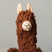 Куклы и игрушки handmade. Livemaster - original item Alpaca toy soft toy handmade BROWN llama. Handmade.