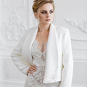 Свадебный салон handmade. Livemaster - original item Copy of Wedding coat, Bridal jacket, Bridal coat, Inna Cream. Handmade.