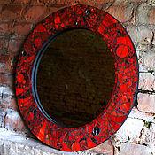 Для дома и интерьера ручной работы. Ярмарка Мастеров - ручная работа Красное зеркало из мозаики. Handmade.