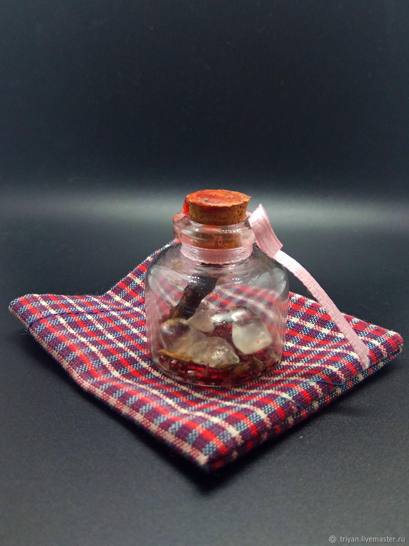 Эзотерические аксессуары ручной работы. Ярмарка Мастеров - ручная работа. Купить Волшебная бутылочка на любовь. Handmade. Саше, бутылочки