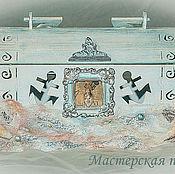 """Свадебный салон ручной работы. Ярмарка Мастеров - ручная работа Свадебная казна - сундук """"Сокровища Ариэль"""". Handmade."""