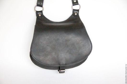 Женские сумки ручной работы. Ярмарка Мастеров - ручная работа. Купить Лёгкая женская сумка из кожи. Handmade. Черный, повседневная