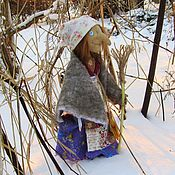 Куклы и игрушки ручной работы. Ярмарка Мастеров - ручная работа Кукла Баба Яга со ступой, текстильная, оберег. Handmade.