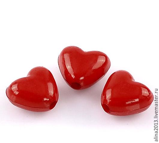 Бусины акриловые Сердечки