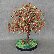 handmade. Livemaster - original item Apple tree of jade and coral. Handmade.
