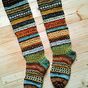 Аксессуары handmade. Livemaster - original item jacquard knee-Milan Irish tweed yarn. Handmade.