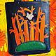 """Кожаная сумка """" Оранжевое лето"""". Сумки. Marina Speranskaya. Интернет-магазин Ярмарка Мастеров. Фото №2"""