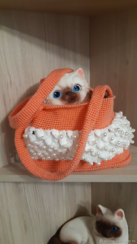 Вязанная сумочка для девочки, Авоська, Варнавино,  Фото №1