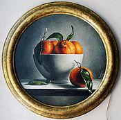 """Картины и панно ручной работы. Ярмарка Мастеров - ручная работа Картина маслом """"Чаша с клементинами"""". Handmade."""