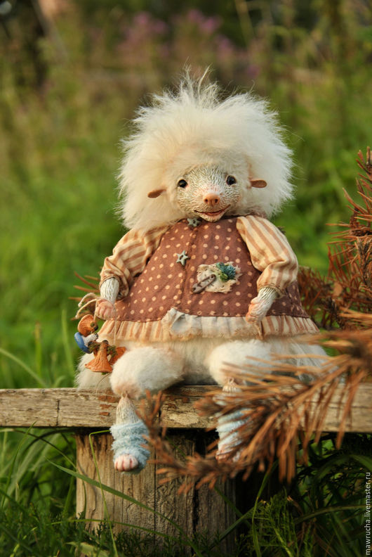 Ежичка-альбинос Агнешка.Друзья Тедди