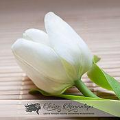 """Украшения ручной работы. Ярмарка Мастеров - ручная работа Брошь """"Белый тюльпан"""". Handmade."""
