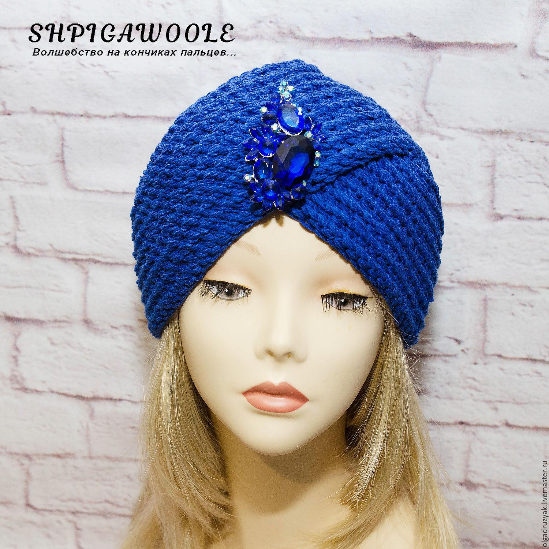 Hat turban ` Sapphire`