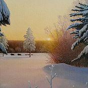 Картины и панно handmade. Livemaster - original item Author`s painting the Morning of the new year.( Vladimir Tarasov). Handmade.