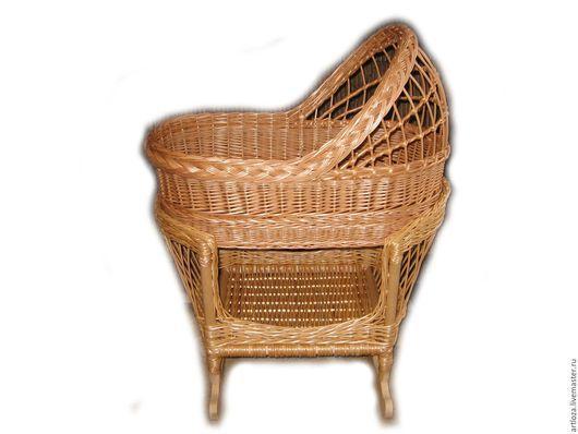 Для новорожденных, ручной работы. Ярмарка Мастеров - ручная работа. Купить Люлька качалка плетеная из натуральной лозы ( колыбель, зыбка). Handmade.