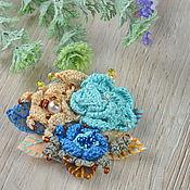 Украшения handmade. Livemaster - original item Knit brooch-flower in the style of