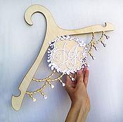 Для дома и интерьера ручной работы. Ярмарка Мастеров - ручная работа Свадебная декоративная вешалка с монограммой. Handmade.