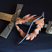 Украшения ручной работы. Ярмарка Мастеров - ручная работа Брошь-фибула Дракон из натурального дерева. Handmade.