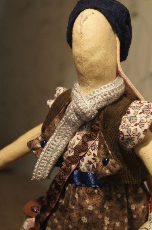 Куклы Тильды ручной работы. Ярмарка Мастеров - ручная работа. Купить Тильда Зайка Парижанка. Handmade. Фиолетовый, тильда кукла